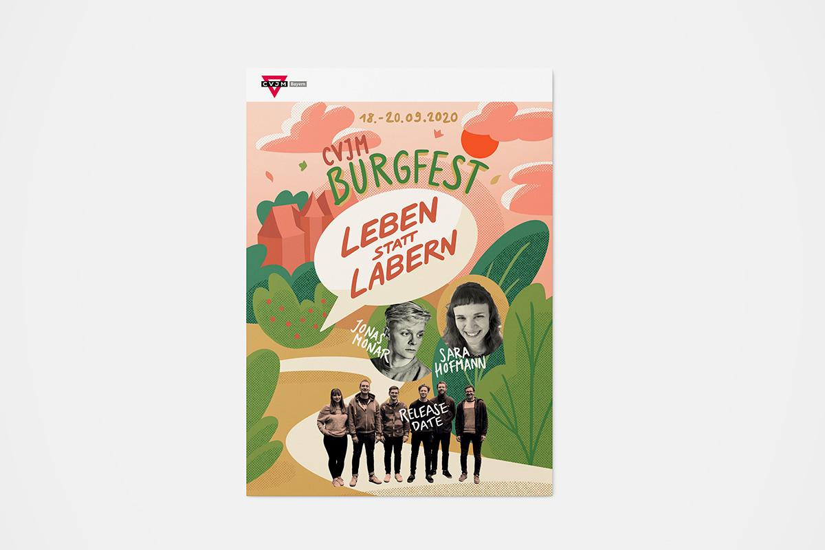 CVJM-Burgfest-Poster