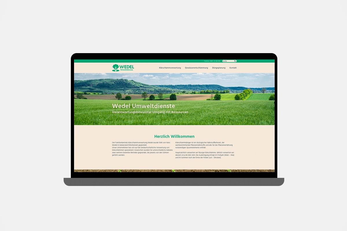 Wedel-Umweltdienste-Website